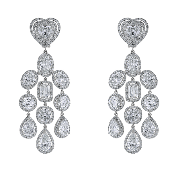 Diamond Platinum Solitaire Earring (163403)
